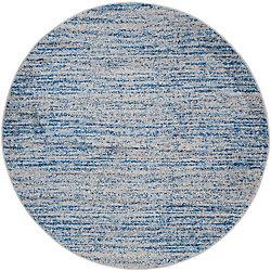 Safavieh Adirondack Leonard Blue / Silver 6 ft. x 6 ft. Indoor Round Area Rug