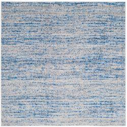 Safavieh Adirondack Leonard Blue / Silver 6 ft. x 6 ft. Indoor Square Area Rug