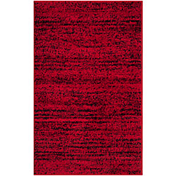 Safavieh Adirondack Leonard Red / Black 2 ft. 6 inch x 4 ft. Indoor Area Rug