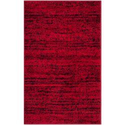 Safavieh Tapis d'intérieur, 2 pi 6 po x 4 pi, Adirondack Leonard, rouge / noir
