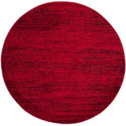 Safavieh Adirondack Leonard Red / Black 4 ft. x 4 ft. Indoor Round Area Rug