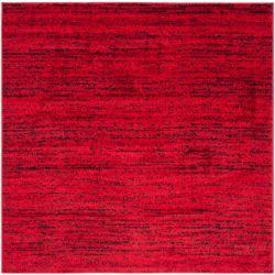 Safavieh Adirondack Leonard Red / Black 4 ft. x 4 ft. Indoor Square Area Rug