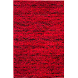 Safavieh Adirondack Leonard Red / Black 5 ft. 1 inch x 7 ft. 6 inch Indoor Area Rug
