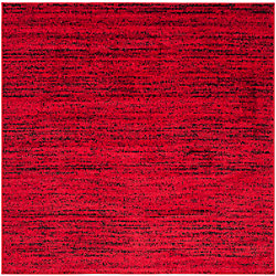 Safavieh Adirondack Leonard Red / Black 6 ft. x 6 ft. Indoor Square Area Rug