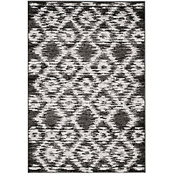 Safavieh Adirondack Sheryl Charcoal / Ivory 5 ft. 1 inch x 7 ft. 6 inch Indoor Area Rug