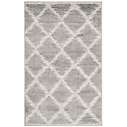 Safavieh Adirondack Lilly Silver / Ivory 3 ft. x 5 ft. Indoor Area Rug