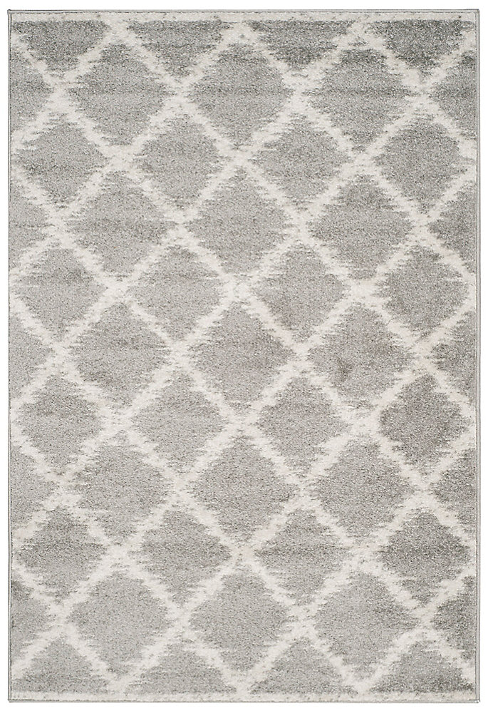 Adirondack Lilly Silver / Ivory 4 ft. x 6 ft. Indoor Area Rug