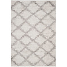 Adirondack Modera Ivory / Silver 5 ft. 1 inch x 7 ft. 6 inch Indoor Area Rug