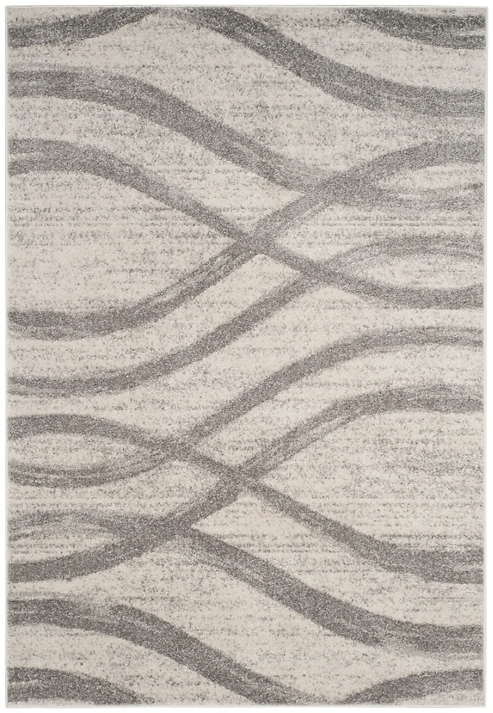 Adirondack Gerald Cream / Grey 8 ft. x 10 ft. Indoor Area Rug