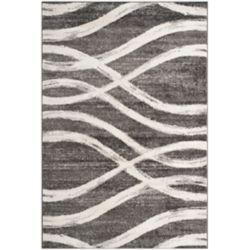 Safavieh Tapis d'intérieur, 6 pi x 9 pi, Adirondack Gerald, gris charbon / ivoire