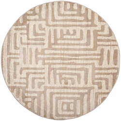 Safavieh Amsterdam Francesca Ivory / Mauve 6 ft. 7 inch x 6 ft. 7 inch Indoor Round Area Rug