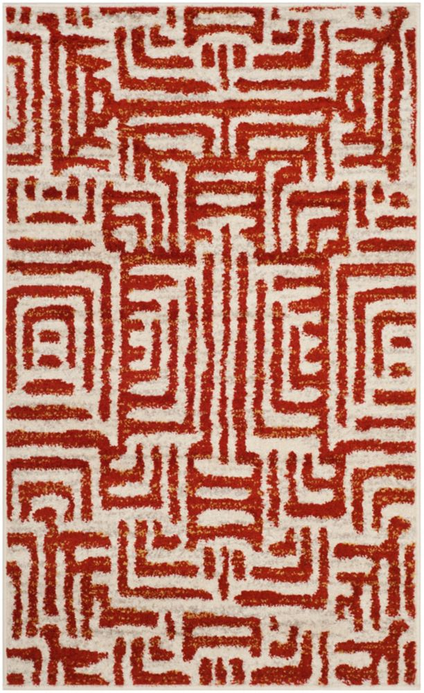 Safavieh Amsterdam Francesca Ivory / Terracotta 3 ft. x 5 ft. Indoor Area Rug