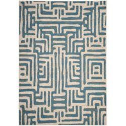 Safavieh Amsterdam Francesca Ivory / Light Blue 4 ft. x 6 ft. Indoor Area Rug
