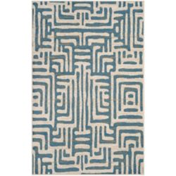 Safavieh Amsterdam Francesca Ivory / Light Blue 5 ft. 1 inch x 7 ft. 6 inch Indoor Area Rug