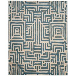 Safavieh Amsterdam Francesca Ivory / Light Blue 8 ft. x 10 ft. Indoor Area Rug