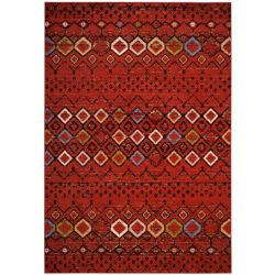 Safavieh Amsterdam Susan Terracotta / Multi 6 ft. 7 inch x 9 ft. 2 inch Indoor Area Rug