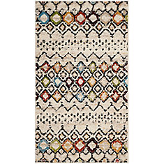 Amsterdam Susan Ivory / Multi 3 ft. x 5 ft. Indoor Area Rug