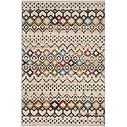 Safavieh Amsterdam Susan Ivory / Multi-Colour 5 ft. 1-inch x 7 ft. 6-inch Indoor Area Rug