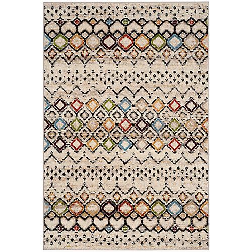 Carpette, 5 pi 31 po x 7 pi 6 po, Amsterdam Susan ivoire/multicolore