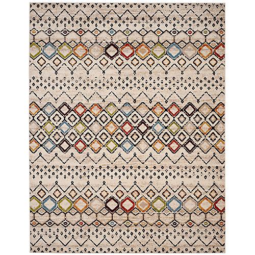 Tapis d'intérieur, 8 pi x 10 pi, Amsterdam Susan, ivoire / multi