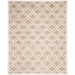 Safavieh Tapis d'intérieur/extérieur, 9 pi x 12 pi, Amherst Mason, blé / beige