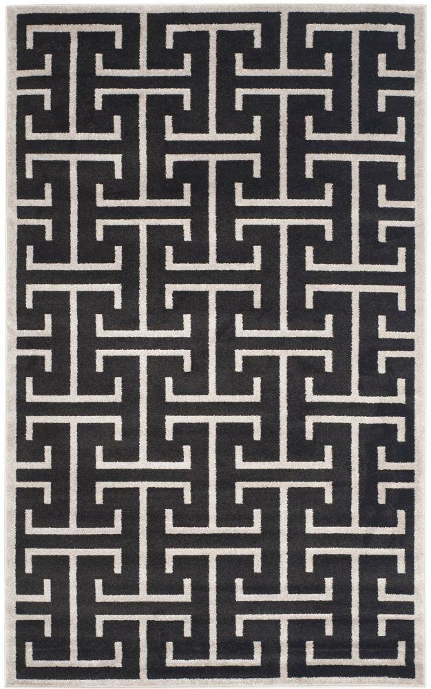 Safavieh Amherst Deborah Anthracite / Light Grey 5 ft. x 8 ft. Indoor/Outdoor Area Rug