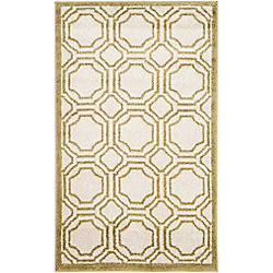 Safavieh Amherst Roscoe Ivory / Light Green 2 ft. 6 inch x 4 ft. Indoor/Outdoor Area Rug