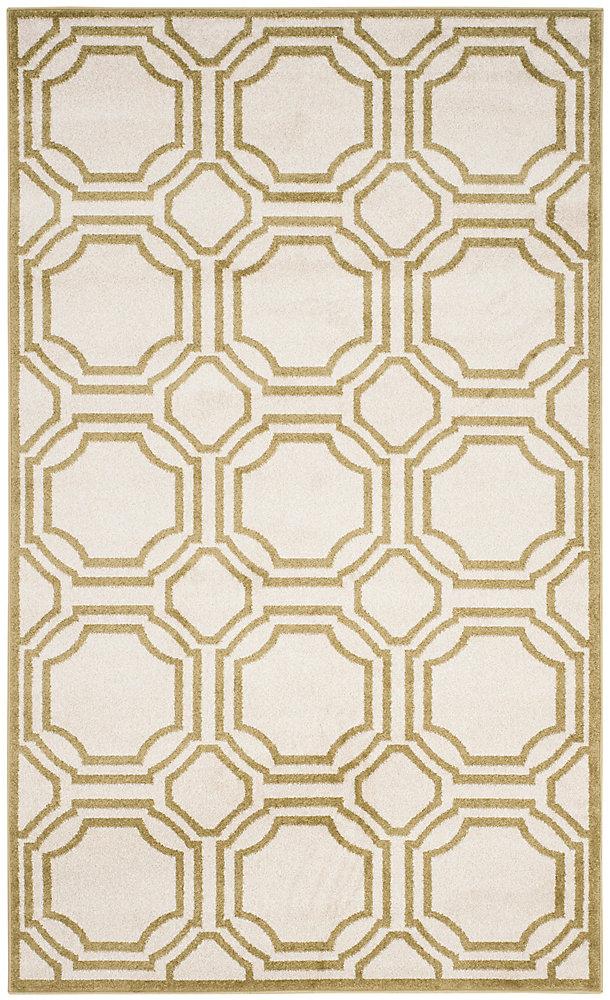 Tapis d'intérieur/extérieur, 4 pi x 6 pi, Amherst Roscoe, ivoire / vert clair