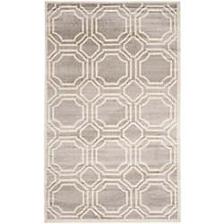Safavieh Amherst Roscoe Light Grey / Ivory 4 ft. x 6 ft. Indoor/Outdoor Area Rug