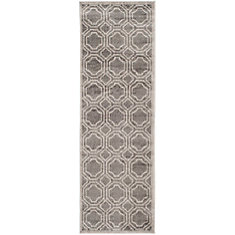 Amherst Roscoe Grey / Light Grey 2 ft. 3 inch x 11 ft. Indoor/Outdoor Runner