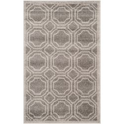 Safavieh Amherst Roscoe Grey / Light Grey 3 ft. x 5 ft. Indoor/Outdoor Area Rug