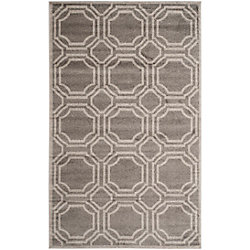 Safavieh Amherst Roscoe Grey / Light Grey 4 ft. x 6 ft. Indoor/Outdoor Area Rug