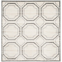 Safavieh Amherst Roscoe Ivory / Light Grey 5 ft. x 5 ft. Indoor/Outdoor Square Area Rug