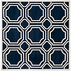 Safavieh Amherst Roscoe Navy / Ivory 5 ft. x 5 ft. Indoor/Outdoor Square Area Rug
