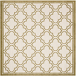 Safavieh Amherst Shirley Ivory / Light Green 7 ft. x 7 ft. Indoor/Outdoor Square Area Rug