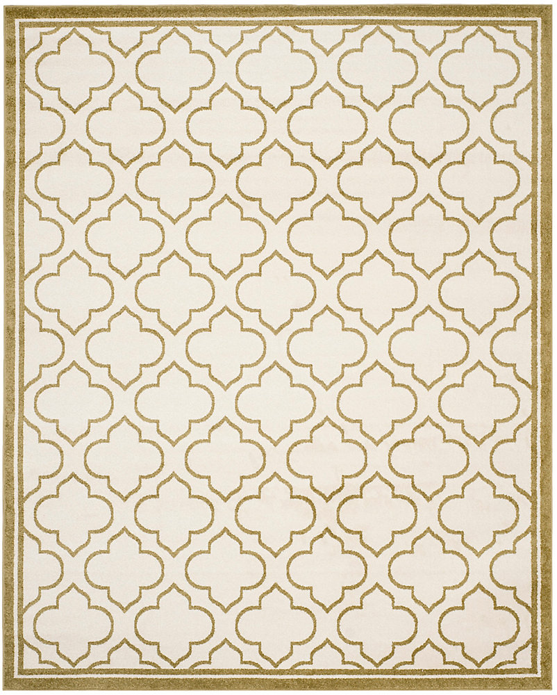 Amherst Shirley Ivory / Light Green 9 ft. x 12 ft. Indoor/Outdoor Area Rug