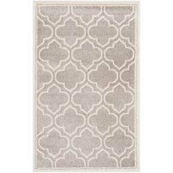 Safavieh Amherst Shirley Light Grey / Ivory 2 ft. 6 inch x 4 ft. Indoor/Outdoor Area Rug