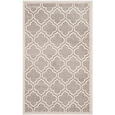 Amherst Shirley Light Grey / Ivory 3 ft. x 5 ft. Indoor/Outdoor Area Rug
