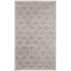 Safavieh Tapis d'intérieur/extérieur, 5 pi x 8 pi, Amherst Shirley, gris clair / ivoire