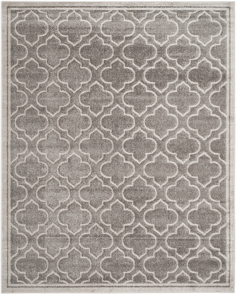 Amherst Shirley Grey / Light Grey 9 ft. x 12 ft. Indoor/Outdoor Area Rug