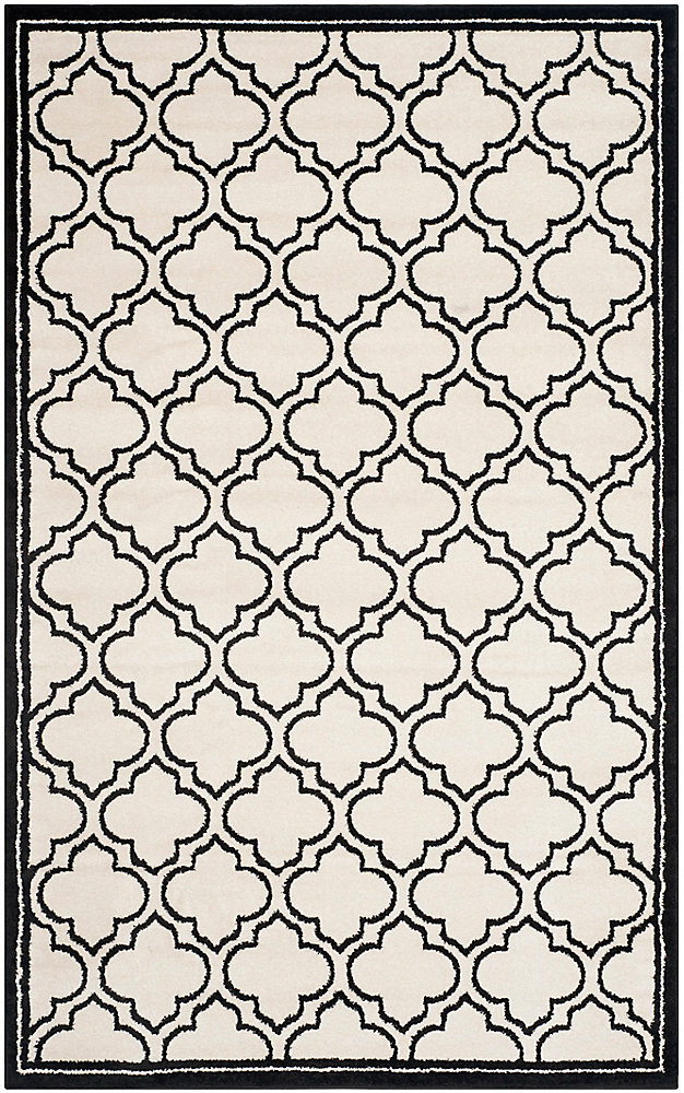 Amherst Shirley Ivory / Anthracite 6 ft. x 9 ft. Indoor/Outdoor Area Rug