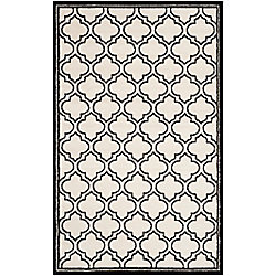 Safavieh Amherst Shirley Ivory / Anthracite 6 ft. x 9 ft. Indoor/Outdoor Area Rug