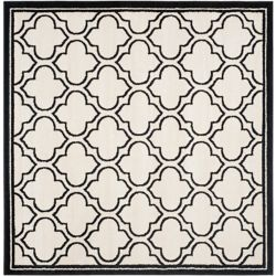 Safavieh Amherst Shirley Ivory / Anthracite 7 ft. x 7 ft. Indoor/Outdoor Square Area Rug