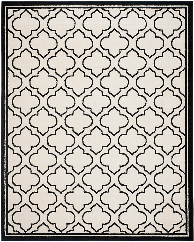Amherst Shirley Ivory / Anthracite 9 ft. x 12 ft. Indoor/Outdoor Area Rug