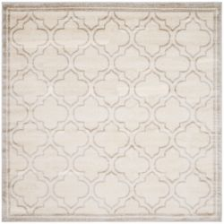 Safavieh Amherst Shirley Ivory / Light Grey 7 ft. x 7 ft. Indoor/Outdoor Square Area Rug