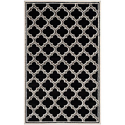 Safavieh Amherst Shirley Anthracite / Ivory 6 ft. x 9 ft. Indoor/Outdoor Area Rug