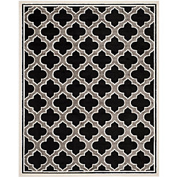 Safavieh Amherst Shirley Anthracite / Ivory 8 ft. x 10 ft. Indoor/Outdoor Area Rug