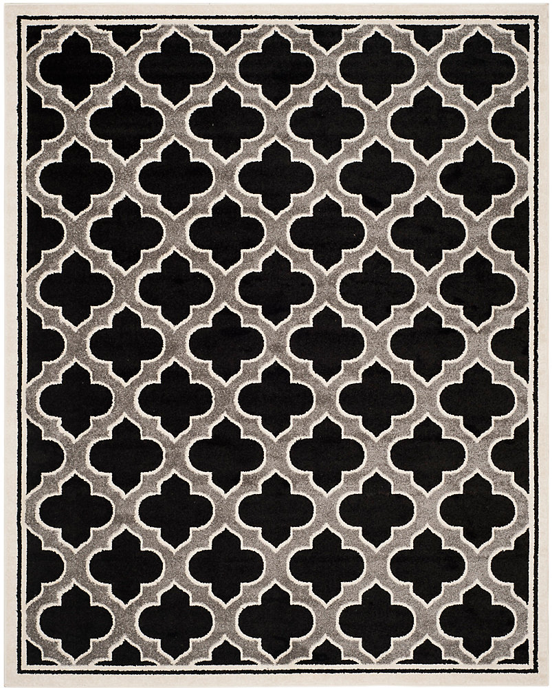 Amherst Shirley Anthracite / Ivory 9 ft. x 12 ft. Indoor/Outdoor Area Rug