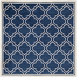 Safavieh Amherst Shirley Navy / Ivory 7 ft. x 7 ft. Indoor/Outdoor Square Area Rug