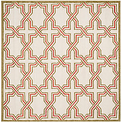 Safavieh Amherst Wilson Ivory / Light Green 7 ft. x 7 ft. Indoor/Outdoor Square Area Rug